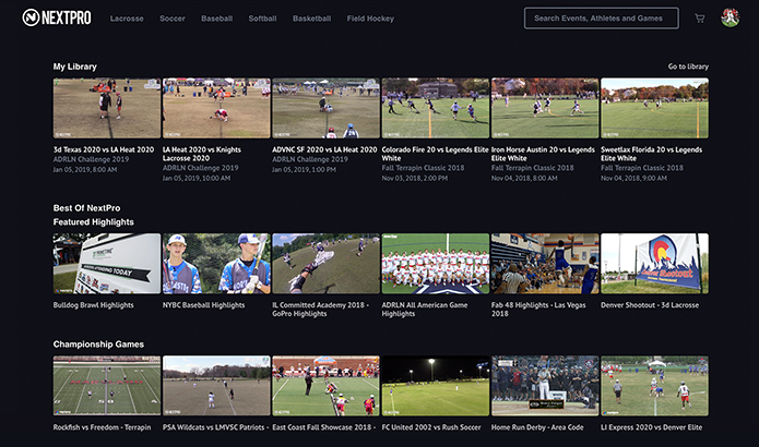 NextPro - Your Sports Media Platform